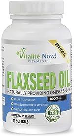 Best Organic Flaxseed Oil Softgels - 1000mg Premium, Virgin Cold Pressed