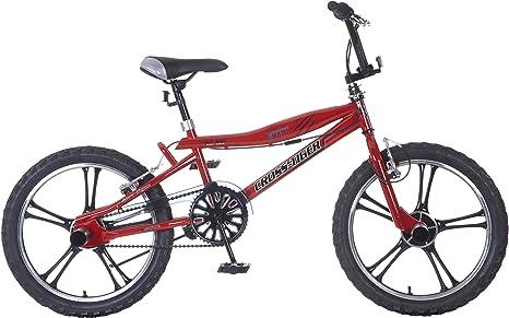 Bicicleta Niño 20 Pulgadas Popal BMX Cross Tiger Freno Delantero y Trasero al Manillar 95% Montada Rojo: Amazon.es: Deportes y aire libre