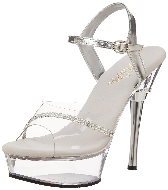 Pleaser Women's Allure-650 Sandal B0016BZLX8 8 B(M) US|Clear/Clear