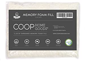 Coop Home Goods - Adjustable Shredded Memory Foam and Poly Fiber Fill for Premium Adjustable Pillow - ½ lb - CertiPUR-US Certified