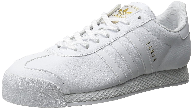 4afbd5d4c2e29 adidas Originals Men's Samoa Retro Sneaker,White/White/Gold,10 M US