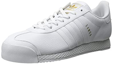 adidas Originals Men's Samoa Retro Sneaker,White/White/Gold,8 ...