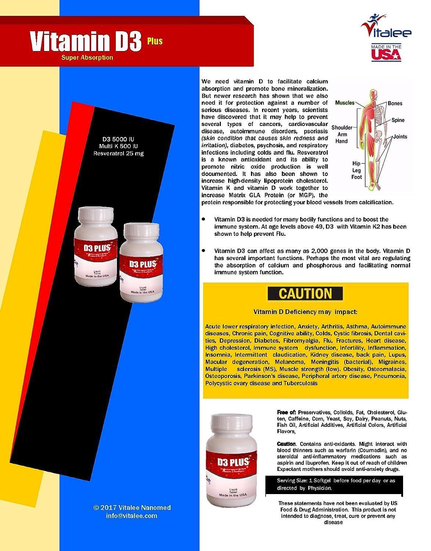 Amazon.com: Vitamin D3 Plus K2 Super Absorbing Softgel (60 Softgel): Health & Personal Care