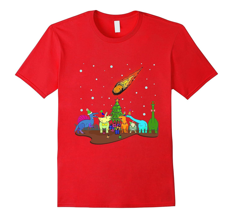 Funny Cute Christmas Dinosaur T-Shirt Dinosaur Xmas for Kids-FL
