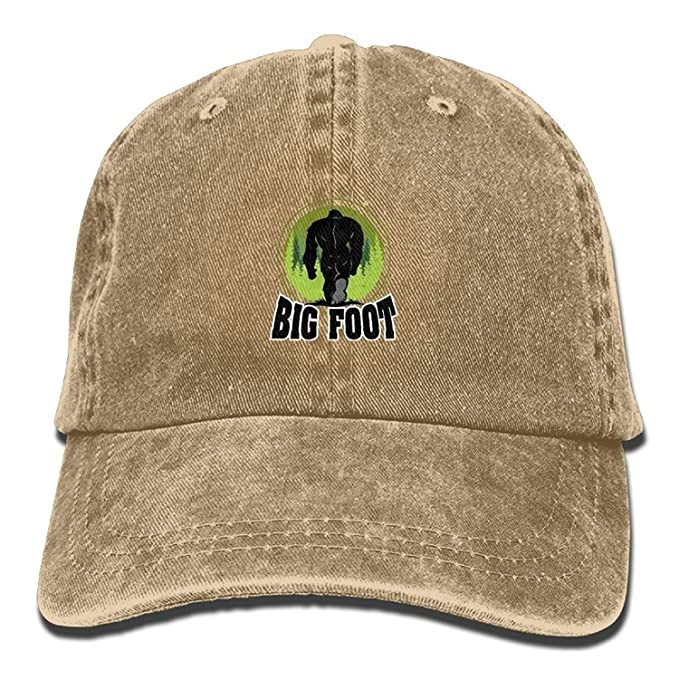 0b8ed66b6a8 Image Unavailable. Image not available for. Color  Unisex Adult Baseball  Cap Bigfoot Green Forest ...