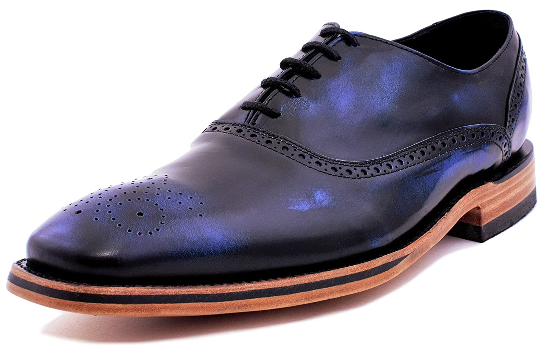7e5ac3676830e Zazueta's Rustic Genuine Calfskin Leather Men's Oxfords Handcrafted Dress  Formal Shoes