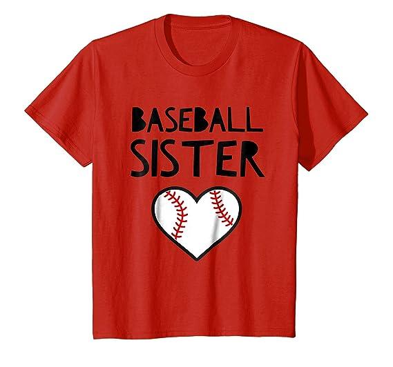 Kids Funny Quote Baseball Sister Meme Gift T Shirt 4 Red