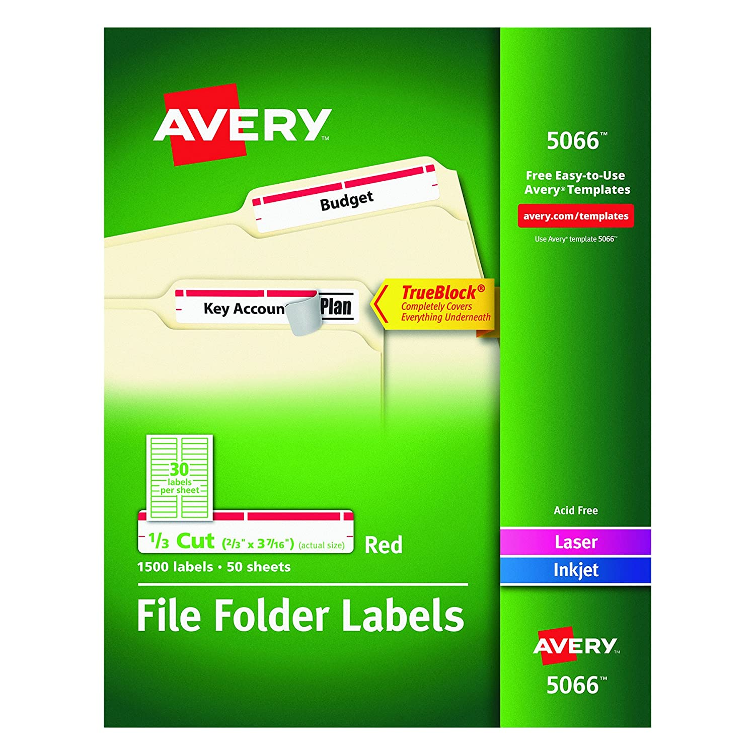 Avery file folder labels template choice image template for Avery template 5352