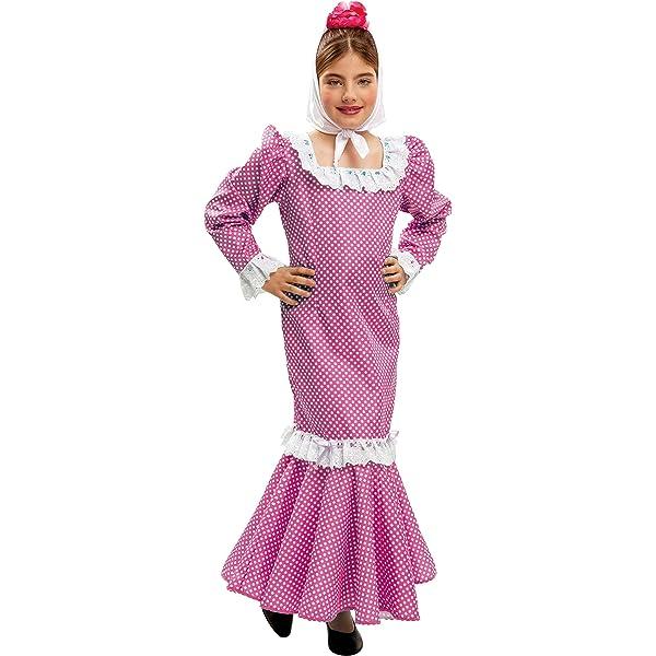 My Other Me - Disfraz de madrileña para niña, talla 5-6 años, color rosa (Viving Costumes MOM02151): Amazon.es: Juguetes y juegos