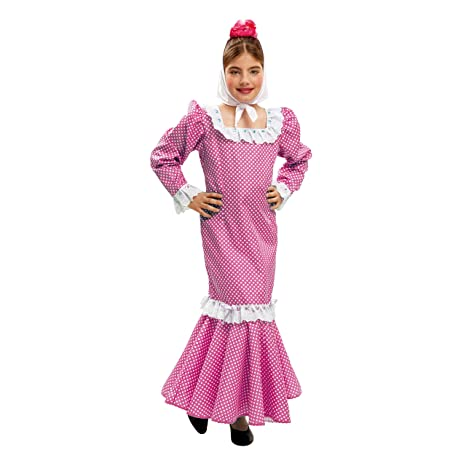 My Other Me Me - Disfraz de madrileña para niña, talla 7-9 años, color rosa (Viving Costumes MOM02152)