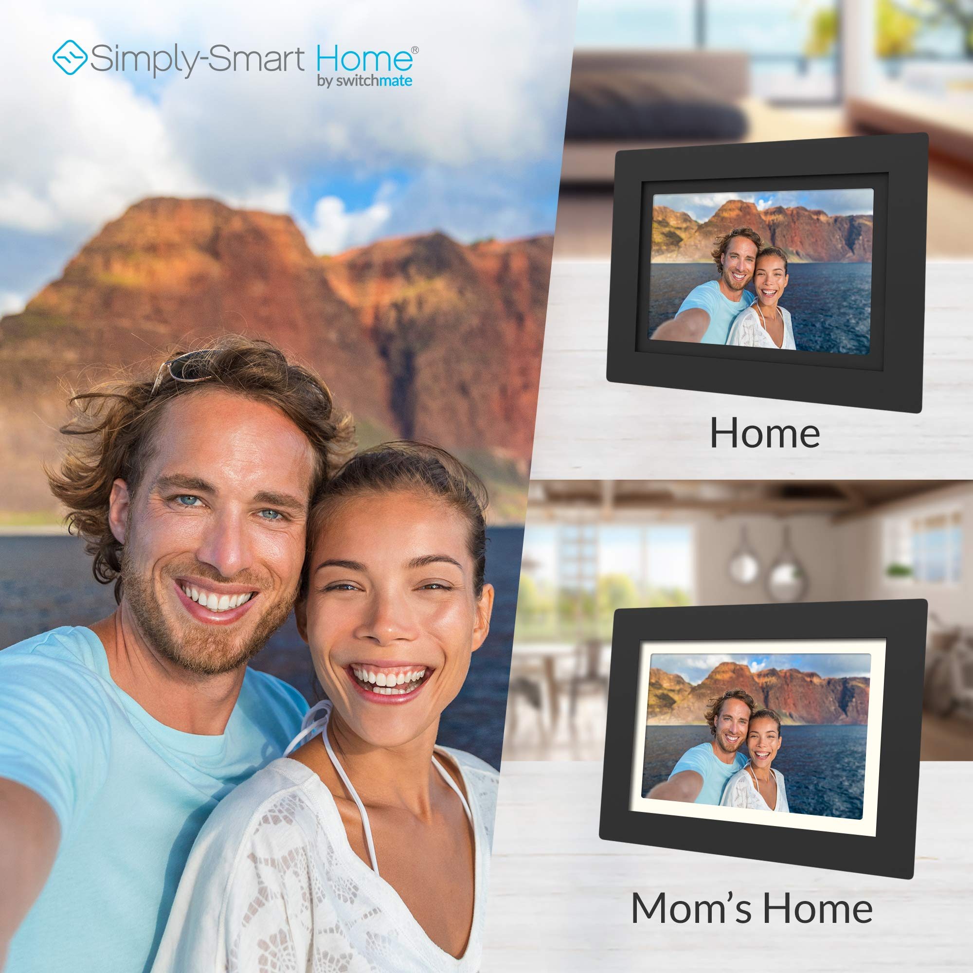 SimplySmart Home PhotoShare Social Network Frame 8'', Send Pics from Phone to Frame, Wi-Fi, Cloud, Digital Picture Frame, Holds Over 1,000 Photos, HD, 1080P, Black/White Mats by Switchmate (Image #3)
