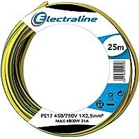 Electraline 13172Cable unipolar FS17, sección 1x 2.5mm², Azul
