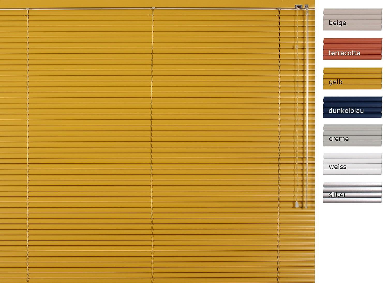 weitere Gr/ö/ßen im Angebot w/ählbar - 25mm Lamelle Restposten Solafal Alu-Jalousie Breite x H/öhe 50 x 175 cm Farbe: silber