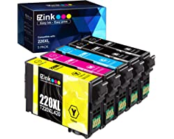 E-Z Ink (TM) Remanufactured Ink Cartridge Replacement for Epson 220 XL 220XL T220XL to use with WF-2760 WF-2750 WF-2630 WF-26