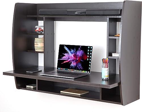 Best modern office desk: Basicwise Wall Mount Laptop Office Desk