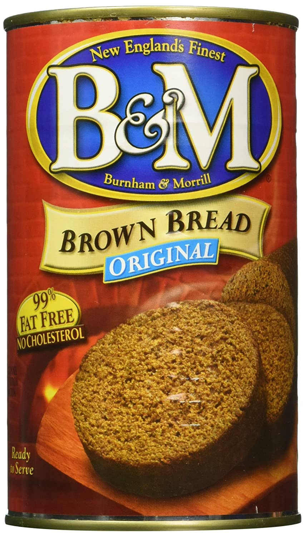 B and G Original Plain Brown Bread, 16 Ounce -- 12 per case.