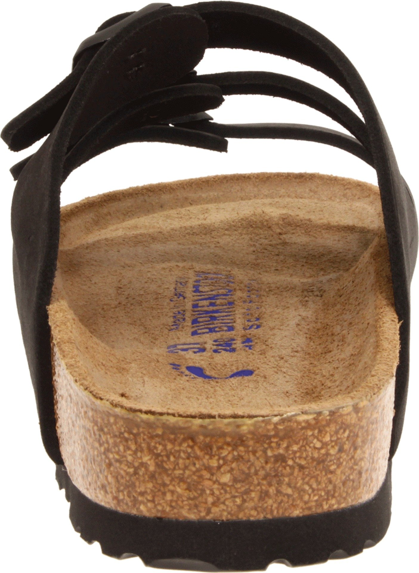 Birkenstock Women's Florida Soft Footbed Birko-Flor  Black Nubuck Sandals - 37 M EU / 6-6.5 B(M) US by Birkenstock (Image #2)