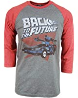 Back To The Future Red and Blue Adult Soft Raglan T-Shirt