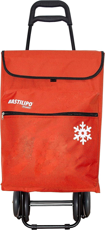 Bastilipo Julia 7098 Carro De La Compra De 4 Ruedas Plegables con Bolsa Térmica, Naranja, 50 l