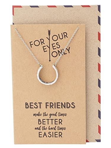 Amazon Quan Jewelry Best Friend Necklaces BES Birthday