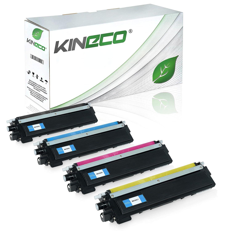 Kineco 4 Toner kompatibel für Brother TN-230 für Brother DCP-9010CN, HL-3040, HL-3045, HL-3070, MFC-9120CN, MFC-9320CW - Schwarz 2.200 Seiten, Farbe je 1.400 Seiten