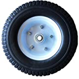 "Heavy Load Flat Free Extra Wide Wagon Dolly Cart Tire (11-3/4"" Diameter and 4"" Width)"