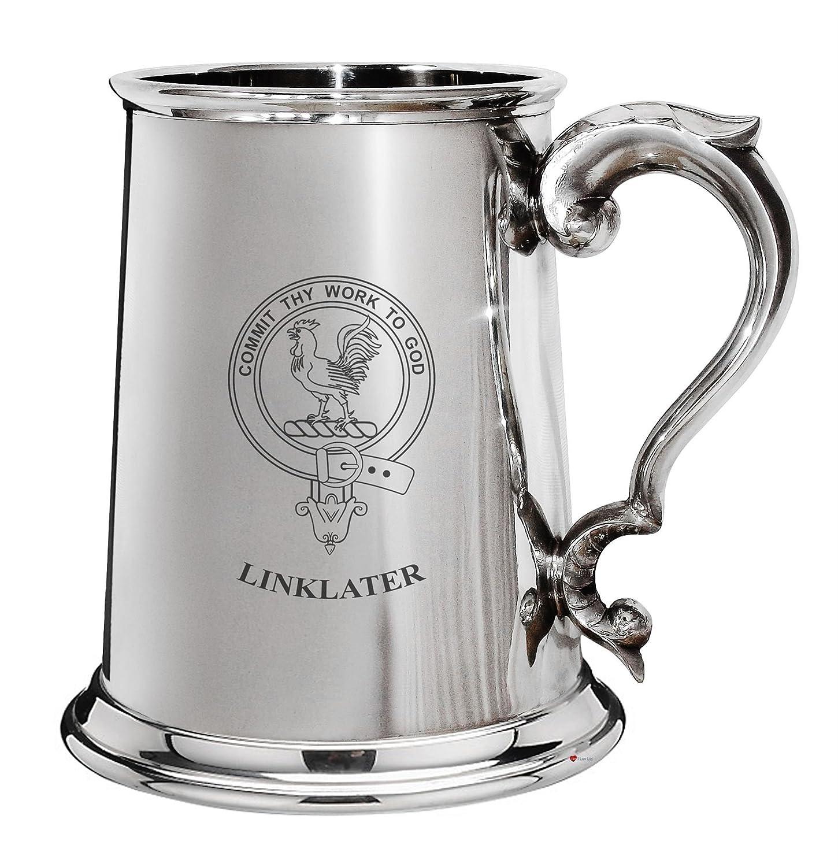 punto de venta barato I I I Luv LTD Cresta de la familia Linklater estaño pulido 1 pinta la jarra de cerveza con el desfile de manejar  exclusivo