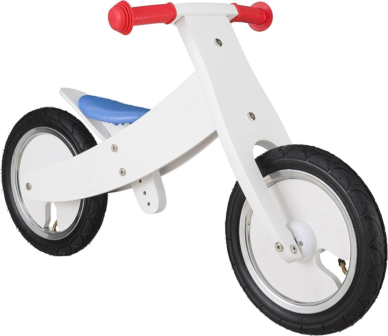 Bikestar - Bicicleta de Seguridad Original de Madera Ligera con neumáticos de Aire para niños de 3 años de Edad, Convertible de 12 Pulgadas, edición 2 en 1, Color Blanco