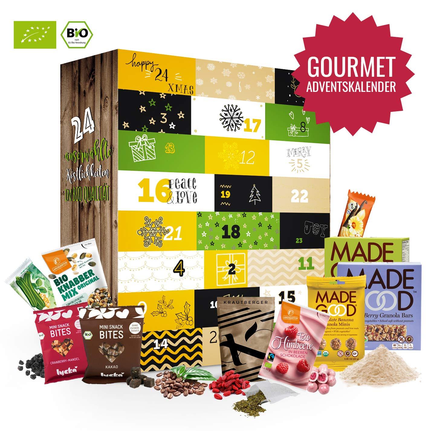 BIO Gourmet Advent Kalender I Weihnachtskalender mit 24 kleine