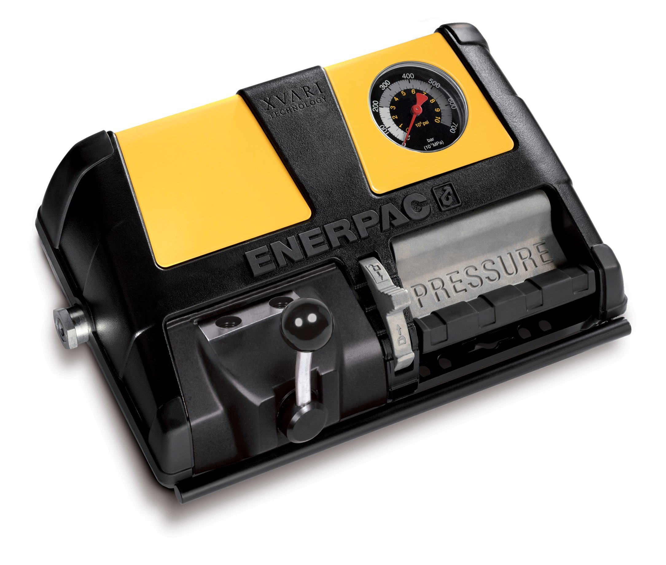 Enerpac XA-11VG Double-Acting Air-Driven Foot Pump with 1 L Usable Oil Capacity and Gauge