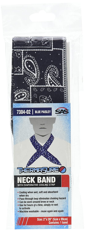 Blue Paisley SAS Safety 7304-02 ThermaSure Cooling Neck Band