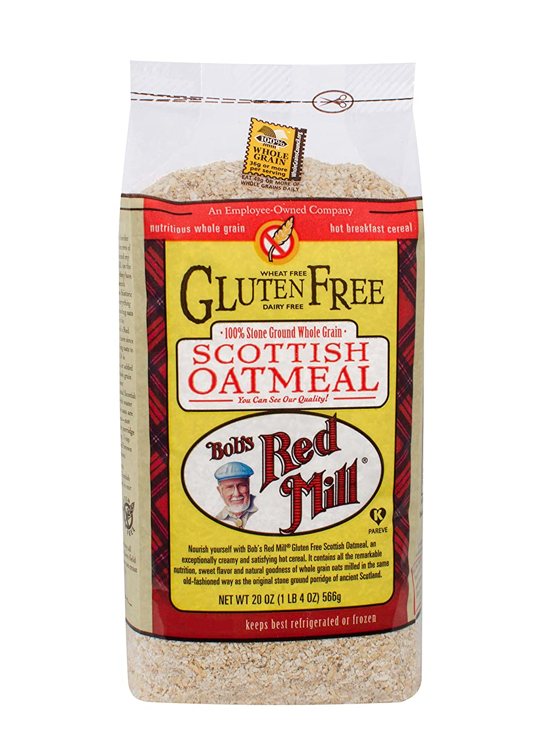 Bob's Red Mill Scottish Oatmeal, Gluten Free, 20 Ounce (Pack of 4)