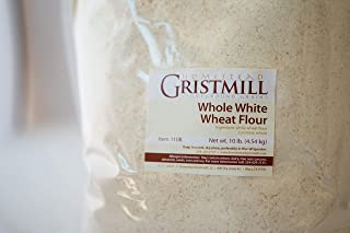 product image for Homestead Gristmill — Non-GMO, Chemical-Free, All-Natural, Stone-ground Whole White Wheat Flour (10 lb), Artisanally Milled from Hard White Wheat Berries