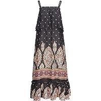 Lofbaz Mujer Seda Artificial Floral Impreso Maxi Vestir