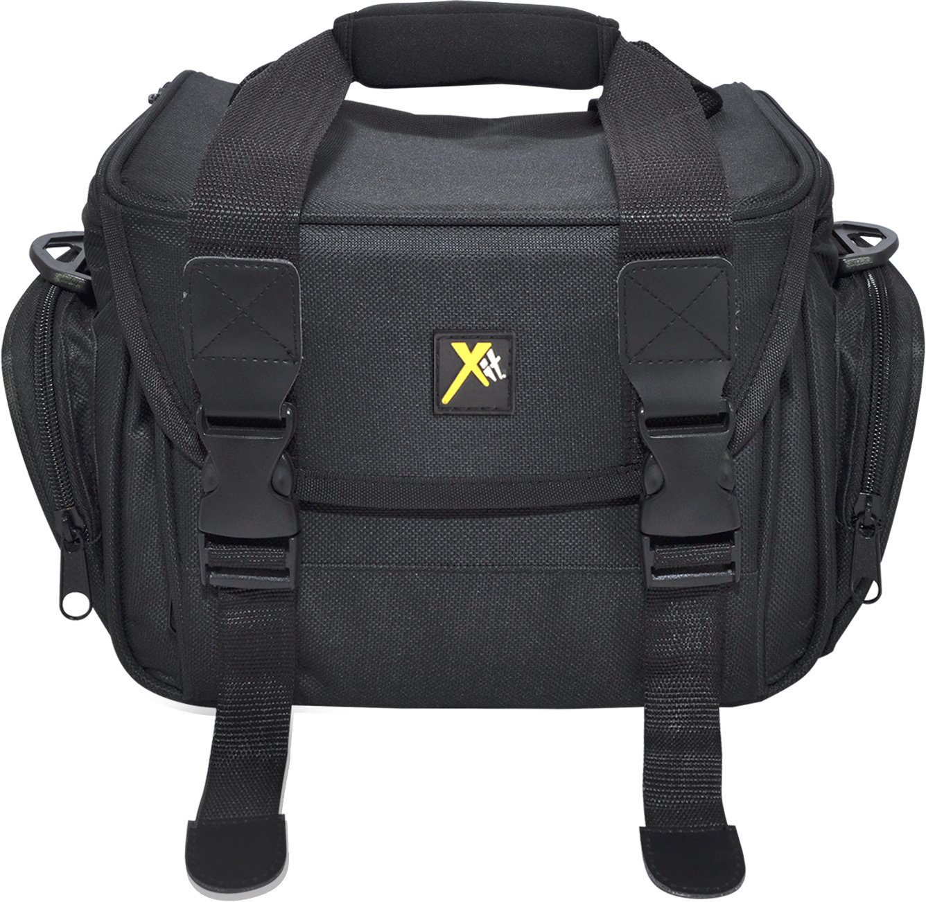 Xit XTCC4 Deluxe Digital Camera/Video Padded Carrying Case, Medium (Black) by Xit