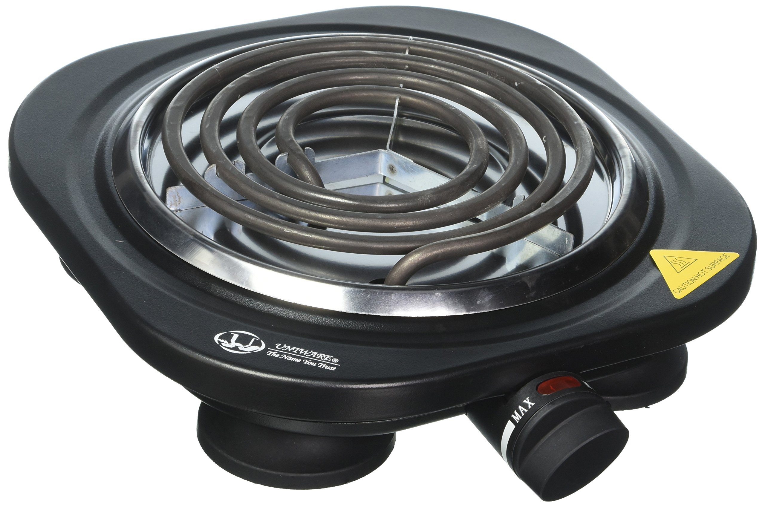 Uniware 1100W Portable Electric Cast Iron Burner, Perfect for all occasions, Black (Singer)