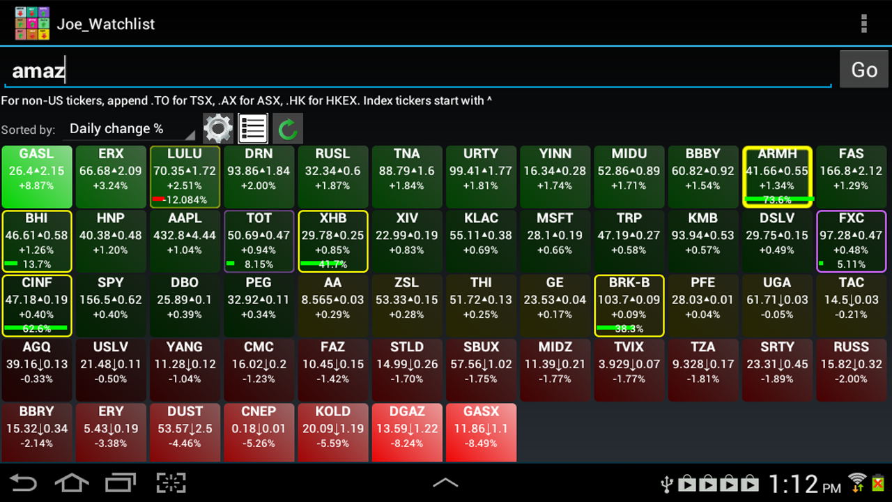 Amazon com realtime stock quotes and tiles appstore for android