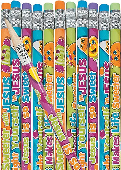 Halloween Pencils Spider Web Pencils for Halloween Printed 24 Pieces Fun Express Pencils Stationery