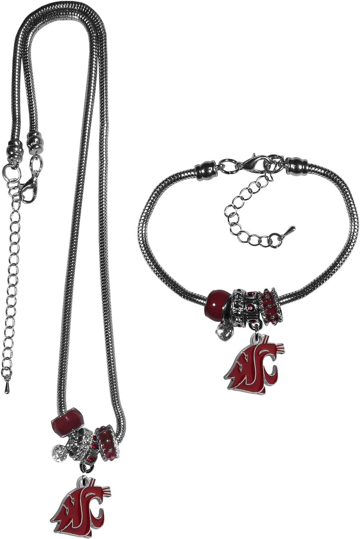 NCAA Siskiyou Sports Womens Washington State Cougars Euro Bead Bracelet One Size Team Color