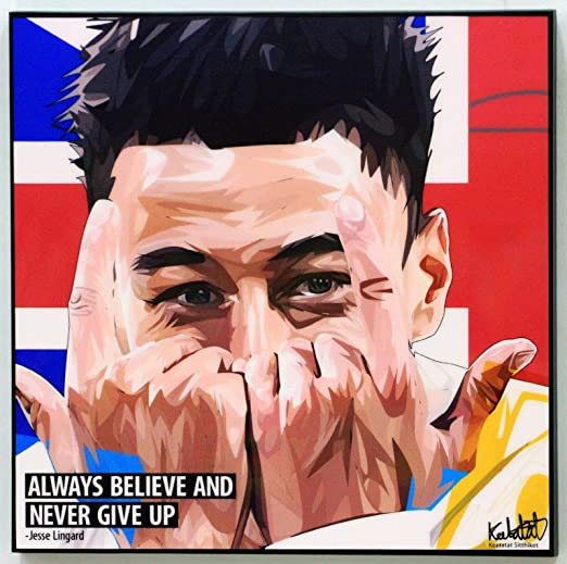 2019 MANCHESTER UNITED POSTER 24x36 JESSE LINGARD FC SOCCER FOOTBALL 34346