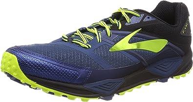 Brooks Cascadia 12, Zapatillas de Running para Asfalto para Hombre, Multicolor (Blue Black Night Li F E 1d419), 48.5 EU: Amazon.es: Zapatos y complementos