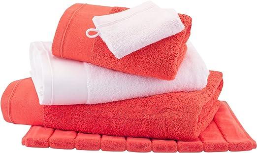 Maxi – Toalla de baño – algodón peinado 600 G/m² – uni coral ...