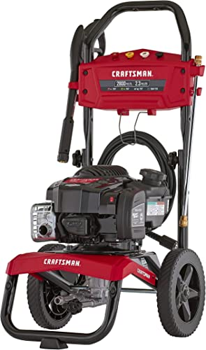 CRAFTSMAN CMXGWAS021021 2800 MAX PSI 2.3 MAX GPM Gas Pressure Washer Powered by Briggs Stratton 163cc Engine, Made in USA with Global Materials