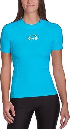 TALLA XL. iQ-Company Iq 300 Eng Geschnitten, UV-Schutz T-Shirt Camiseta con Manga Corta, Mujer