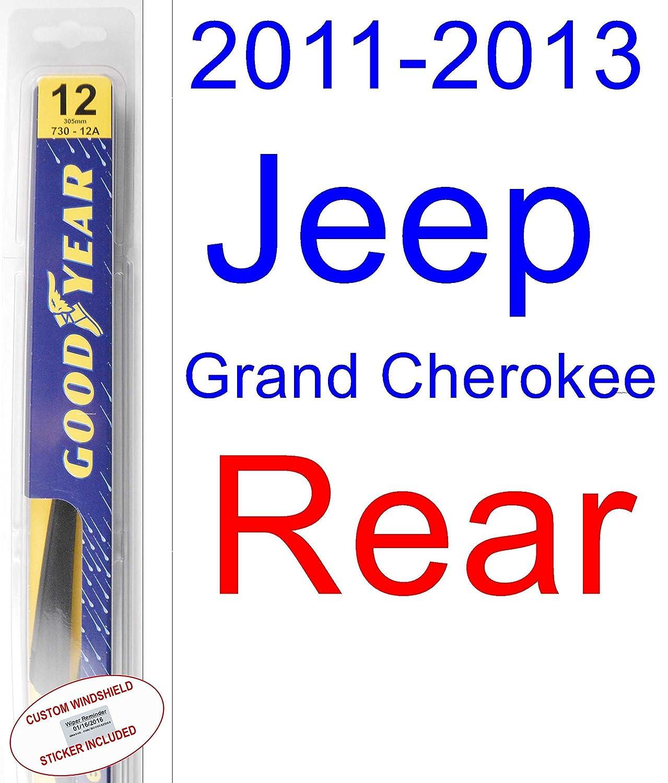 2011 - 2013 Jeep Grand Cherokee (modelos de repuesto para limpiaparabrisas Set/Kit (Goodyear limpiaparabrisas blades-hybrid) (2012): Amazon.es: Coche y moto