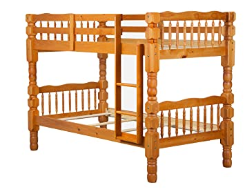 100 Solid Wood Dakota Twin Over Bunk Bed By Palace Imports Honey Pine