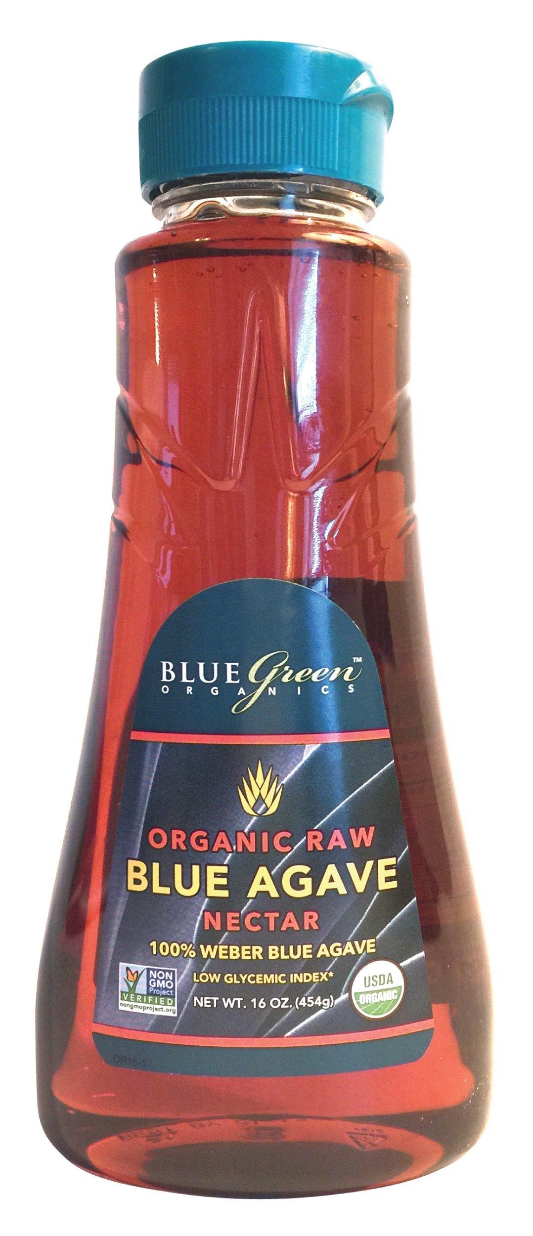 Blue Green Agave Organic Nectar, Raw Blue, 16 Ounce