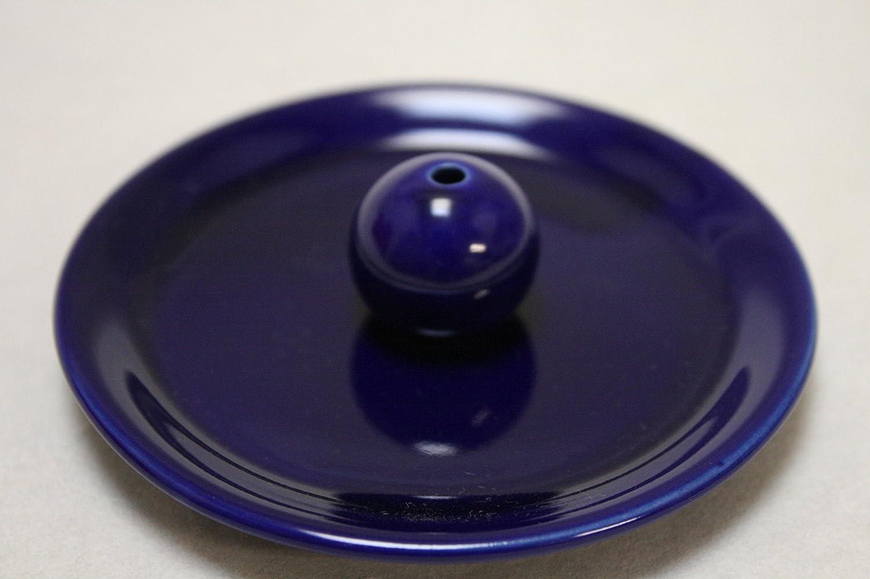 瑠璃色お香たて 陶器