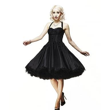 Hell Bunny Kleid URSULA DRESS black 4XL: Amazon.de: Bekleidung