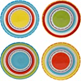 "Certified International 25641SET/4 Mariachi Canape Plates (Set of 4), 6"", Multicolor"